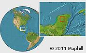 Satellite Location Map of Tixmehuac