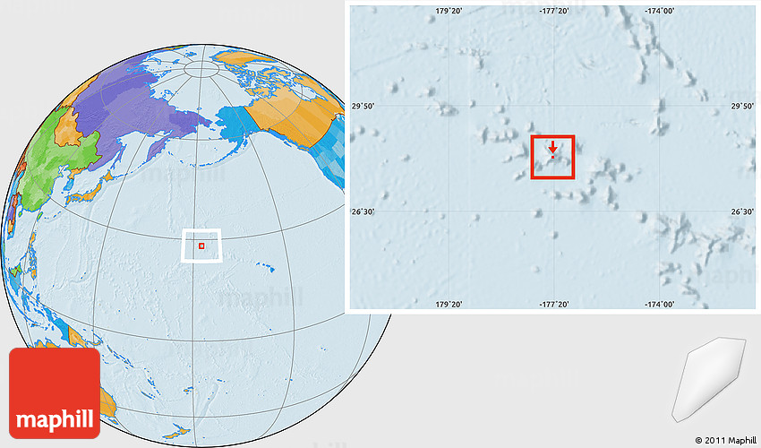 Midway On World Map.Political Location Map Of Midway Islands