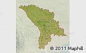 Satellite 3D Map of Moldova, lighten