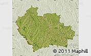 Satellite Map of Balti, lighten