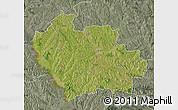 Satellite Map of Balti, semi-desaturated