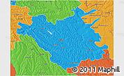 Political 3D Map of Chisinau