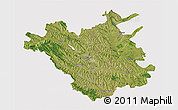 Satellite 3D Map of Chisinau, cropped outside