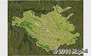 Satellite 3D Map of Chisinau, darken