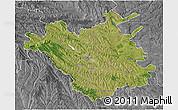 Satellite 3D Map of Chisinau, desaturated
