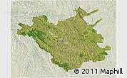 Satellite 3D Map of Chisinau, lighten