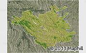 Satellite 3D Map of Chisinau, semi-desaturated