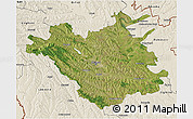 Satellite 3D Map of Chisinau, shaded relief outside