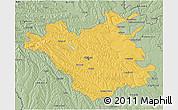 Savanna Style 3D Map of Chisinau