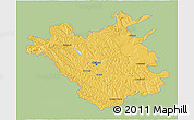 Savanna Style 3D Map of Chisinau, single color outside