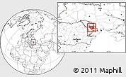 Blank Location Map of Chisinau