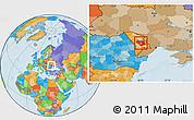 Political Location Map of Chisinau