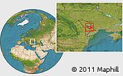 Satellite Location Map of Chisinau