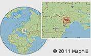 Savanna Style Location Map of Chisinau