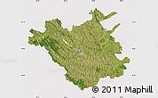Satellite Map of Chisinau, cropped outside