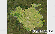 Satellite Map of Chisinau, darken