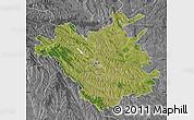 Satellite Map of Chisinau, desaturated
