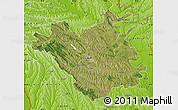 Satellite Map of Chisinau, physical outside