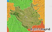 Satellite Map of Chisinau, political outside