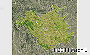 Satellite Map of Chisinau, semi-desaturated
