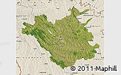 Satellite Map of Chisinau, shaded relief outside