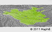 Physical Panoramic Map of Chisinau, desaturated