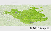 Physical Panoramic Map of Chisinau, lighten