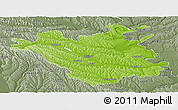 Physical Panoramic Map of Chisinau, semi-desaturated
