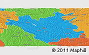 Political Panoramic Map of Chisinau