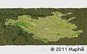 Satellite Panoramic Map of Chisinau, darken