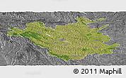 Satellite Panoramic Map of Chisinau, desaturated