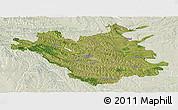 Satellite Panoramic Map of Chisinau, lighten