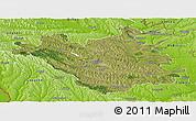 Satellite Panoramic Map of Chisinau, physical outside