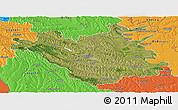 Satellite Panoramic Map of Chisinau, political outside