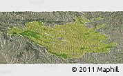 Satellite Panoramic Map of Chisinau, semi-desaturated