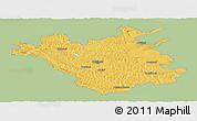 Savanna Style Panoramic Map of Chisinau, single color outside