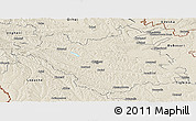 Shaded Relief Panoramic Map of Chisinau