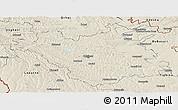 Shaded Relief Panoramic Map of Chisinau