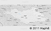 Silver Style Panoramic Map of Chisinau