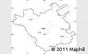 Blank Simple Map of Chisinau, cropped outside