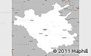 Gray Simple Map of Chisinau