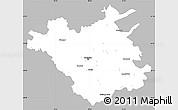 Gray Simple Map of Chisinau, single color outside