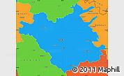 Political Simple Map of Chisinau