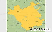 Savanna Style Simple Map of Chisinau