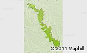 Physical Map of Dubasari, lighten