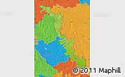 Physical Map of Dubasari, political outside