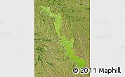Physical Map of Dubasari, satellite outside