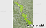 Physical Map of Dubasari, semi-desaturated