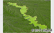 Physical Panoramic Map of Dubasari, darken