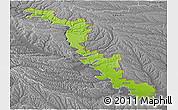Physical Panoramic Map of Dubasari, desaturated